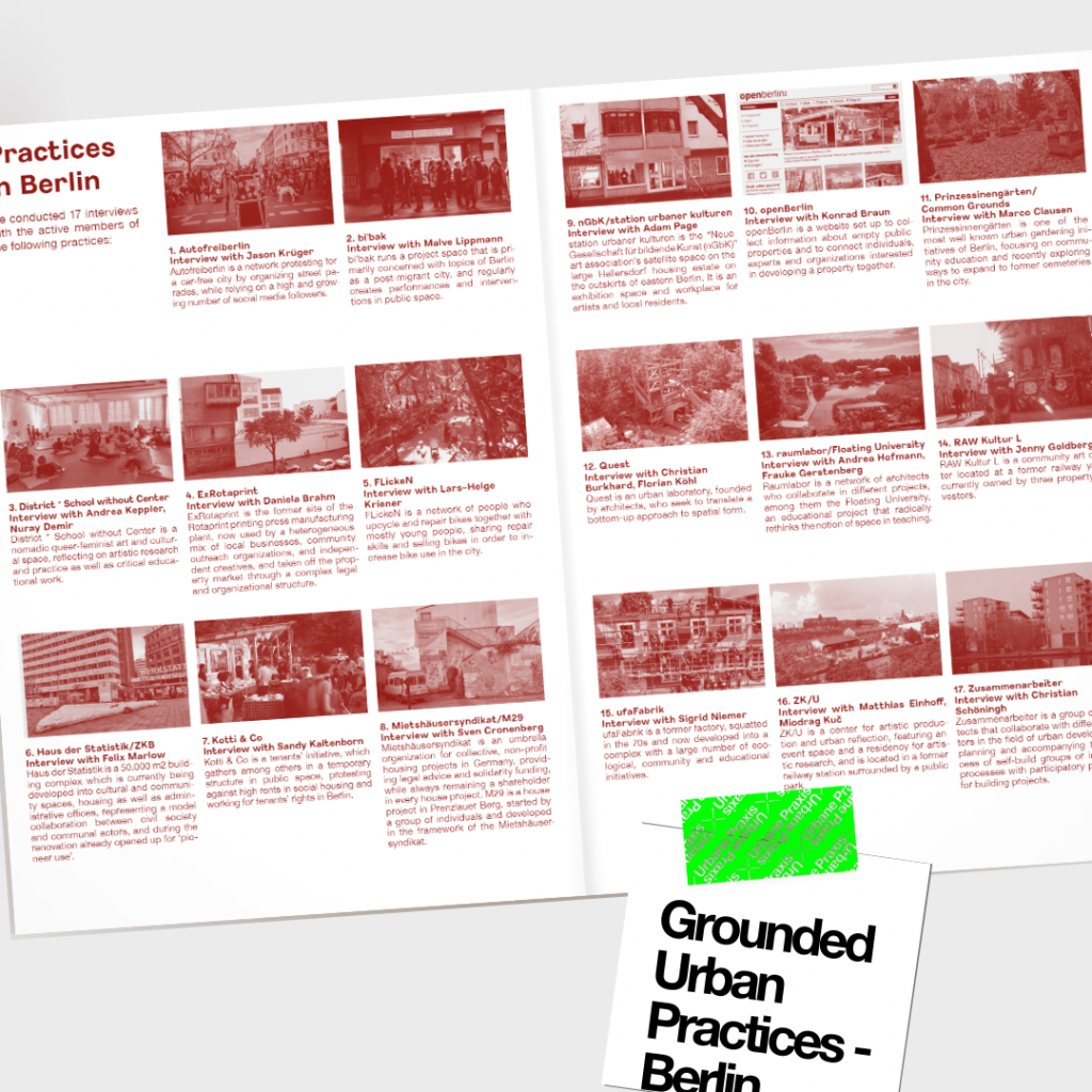 """Ausschnitt aus der Publikation """"Grounded Urban Practices - Berlin"""""""