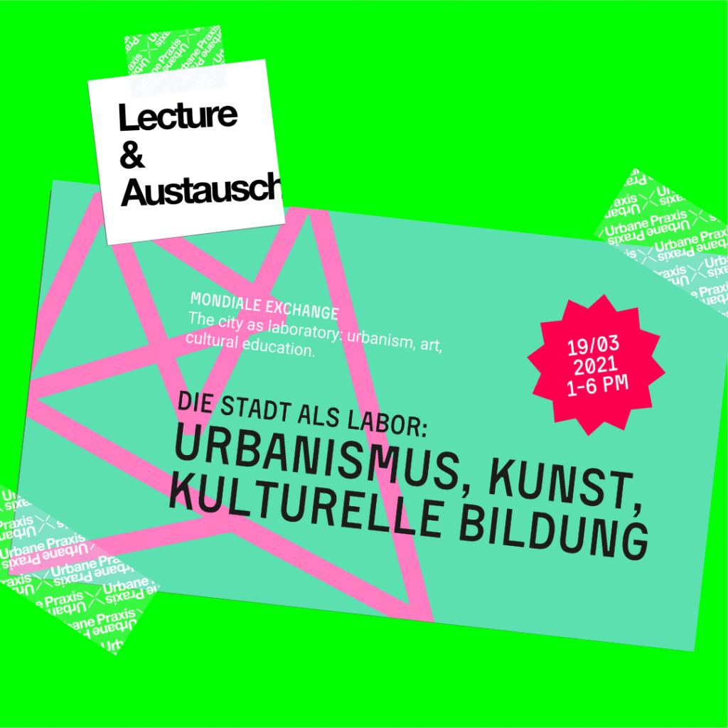 """Plakat der Veranstaltung """"Die Stadt als Labor"""""""